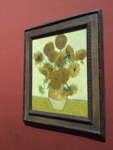Sunflowers by Van Gogh in the National Gallery of London