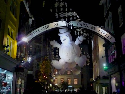 Carnaby Street a Londra a Natale