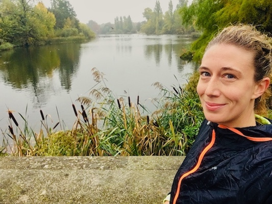 At the Italian Gardens of Kensington Gardens, one of the best routes where to run in London