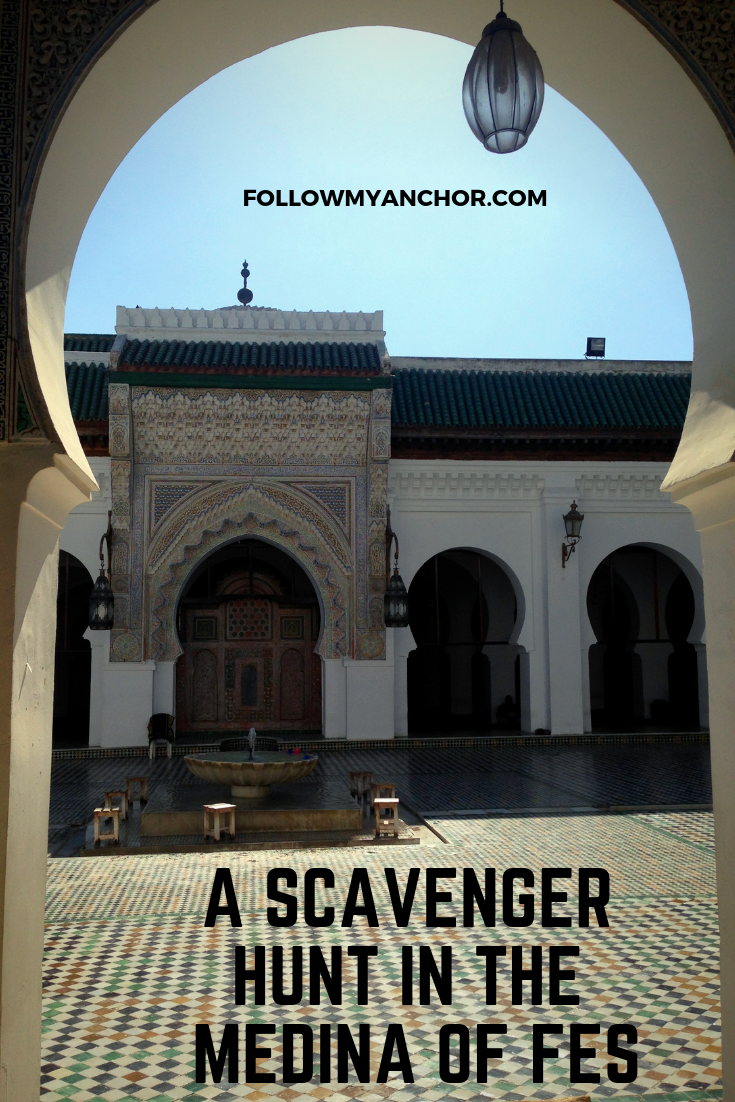 Things to do in Fes | A scavenger hunt to discover the amazing spots hidden in the maze of streets in the most chaotic medina in Morocco. #Fes #FesMedina #FesThingsToDo #TravelBlog