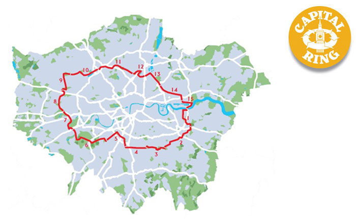 Map of the Capital Ring Walk