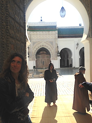 Me outside Karaouine Mosque