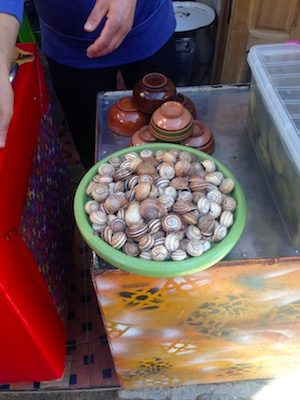 Snails in the souk of the Medina of Fes