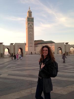 At Hassan II Mosque in Casablanca