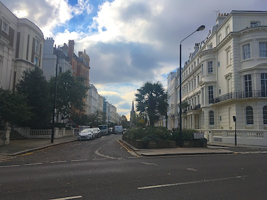 The neighborhood of Notting Hill in London