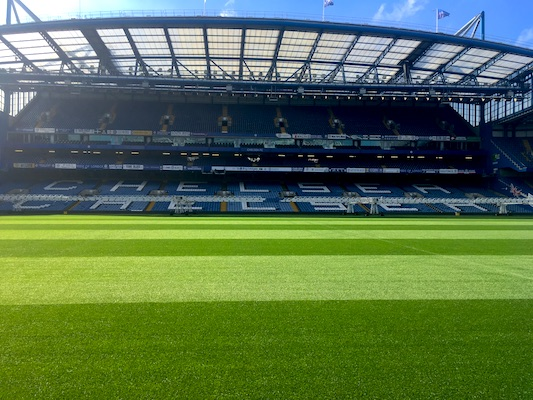 Stamford Bridge, the stadium of Chelsea in London