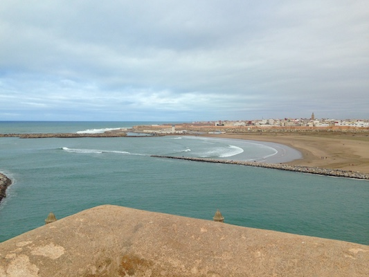 View over the Atlantic Ocean in Kasbah Les Oudaias