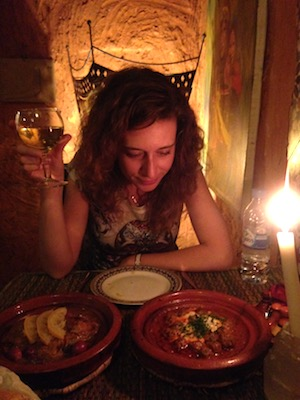 Having dinner at Tajine wa Tanja in Rabat