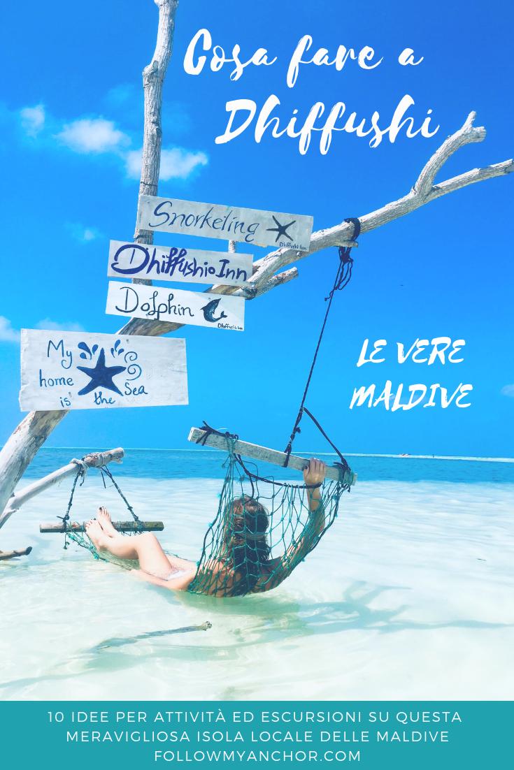 Cosa Fare a Dhiffushi | Una piccola guida con 10 idee per attività ed escursioni che puoi praticare a Dhiffushi, una piccola meravigliosa isola locale delle Maldive. Dai un\'occhiata a questo articolo per scoprirle! #Dhiffushi #Maldive #DhiffushiCosaFare #MaldiveCosaFare