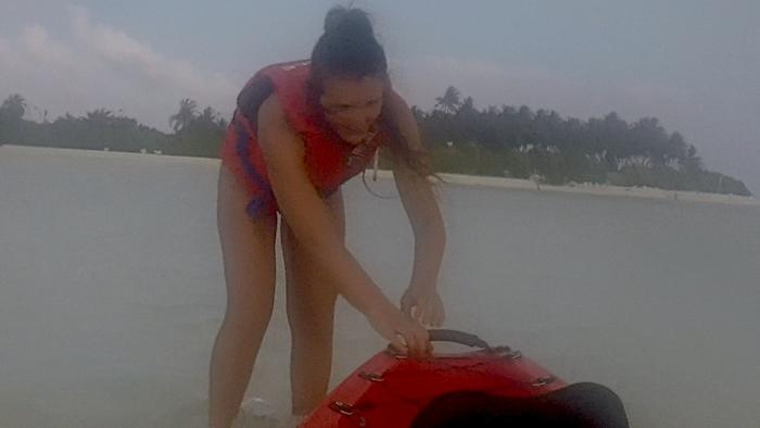 Arenate su una secca in kayak a Dhiffushi!