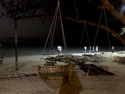 Alla North Beach di Dhiffushi aspettando le razze