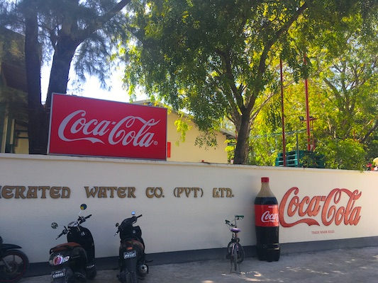 Coca-Cola Factory on Thulusdhoo Island