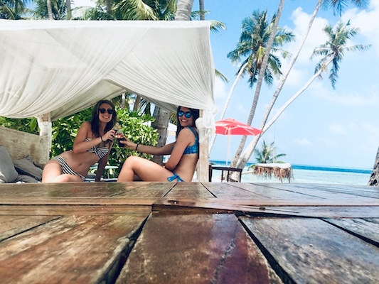 Relax sulla spiaggia del Samura di Thulusdhoo