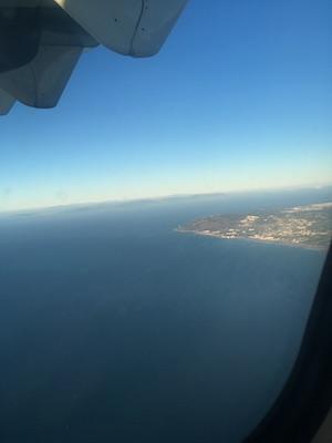 Lo stretto di Gibilterra visto dall'aereo