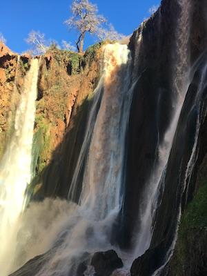 Sommità delle cascate Ouzoud