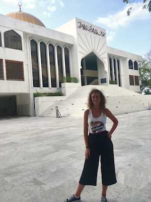 At the Grand Friday Mosque in Male Maldives