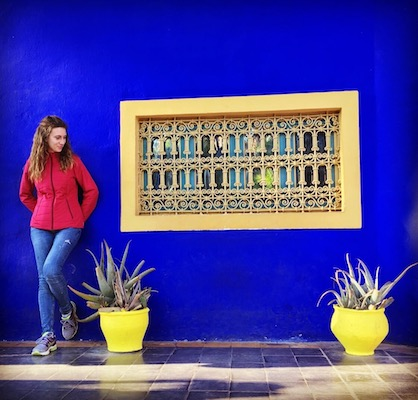 At the blue villa of Jardin Majorelle
