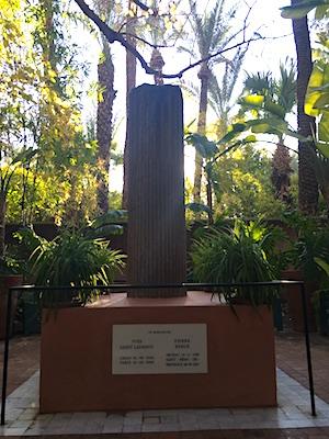 Memoriale dedicato a Yves Saint Laurent a Jardin Majorelle