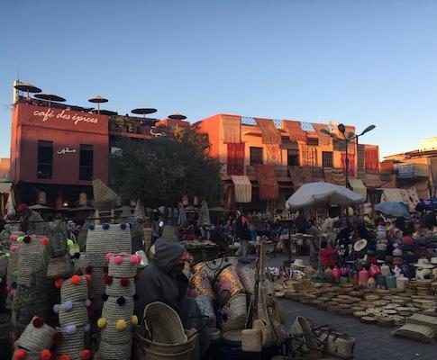Café des épices nella medina di Marrakech