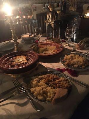 Alcuni piatti tipici del ristorante Dar Marjana di Marrakech