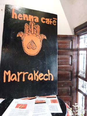 Henna Café in Marrakech