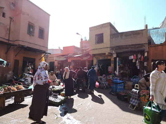Local people in the medina of Marrakech
