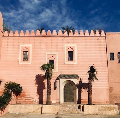 Mura rosa della medina di Marrakech