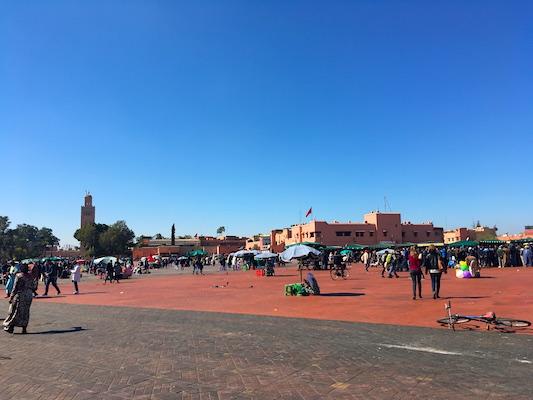 Piazza Jemaa el-Fna di Marrakech