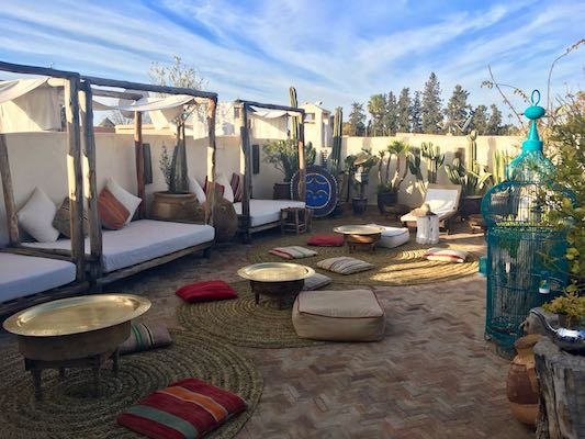 Terrace of Riad Villa Almeria Hotel & Spa in Marrakech