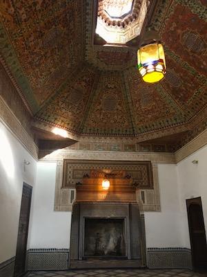 Decorazioni delle sale del Palazzo el Bahia