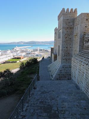 Le mura fortificate della Kasbah di Tangeri