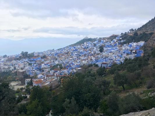 Panorama sulla medina di Chefchaouen