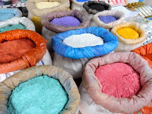 Le polveri colorate di Chefchaouen