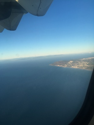 The Gibraltar Strait from the plane