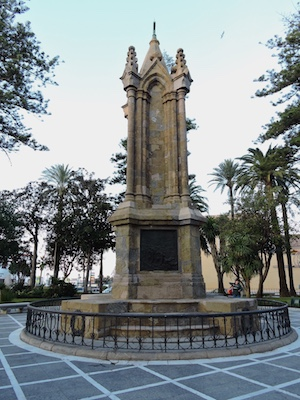 Monument dedicated to the soldiers fallen during the African war in Plaza de Africa