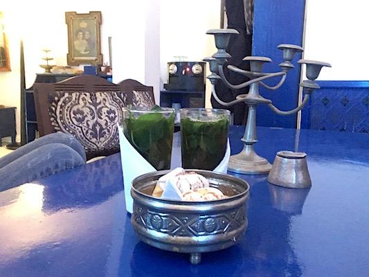 Mint Tea and Gateaux Marocains at Le Salon Bleu