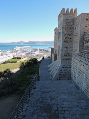 The fortified walls of the Kasbah of Tangier