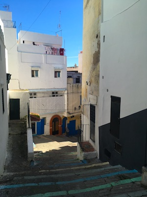 The little streets in the medina of Tangier