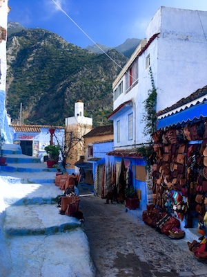 Chefchaouen by the Rif mountains