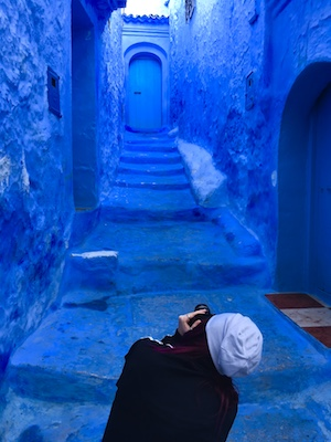 Taking photos in Chefchaouen