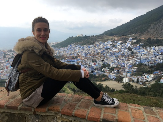 Me and the view of Chefchaouen