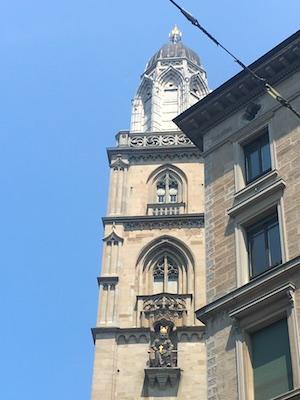 Copia della statua di Carlo Magno nella torre della Grossmunster
