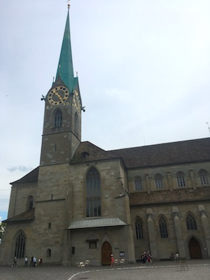 Fraumunster church in Zurich