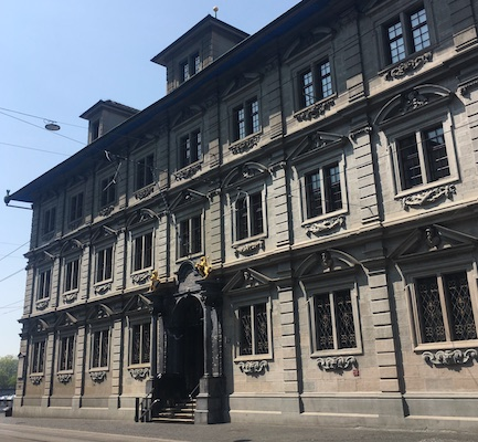The Rathaus, the town hall of Zurich