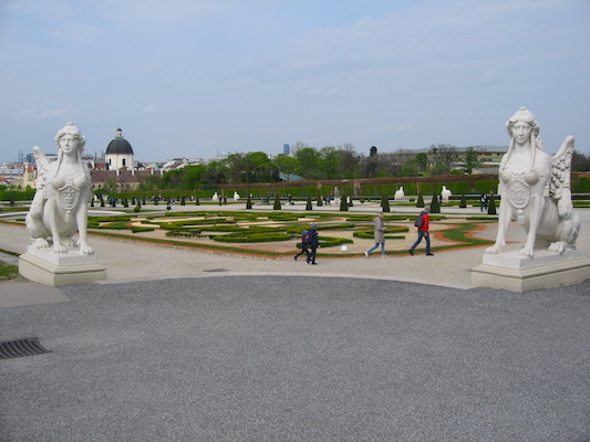 Sphinxes in the garden of Belvedere
