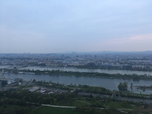 The view of Vienna from the Danube Tower