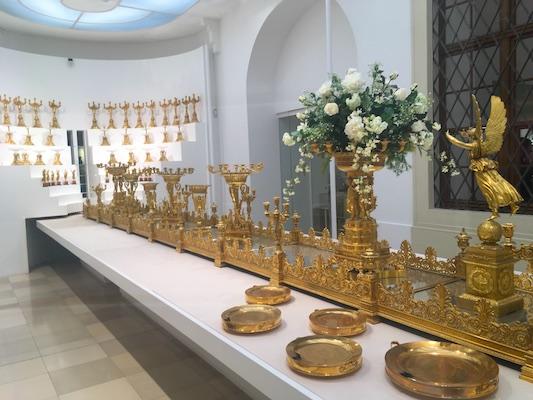 Il centrotavola di Milano del Museo delle Argenterie di Corte dell'Hofburg di Vienna