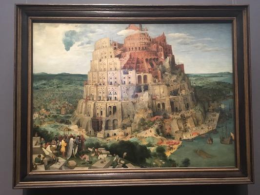Torre di Babele di Bruegel nel Museo di Storia dell'Arte