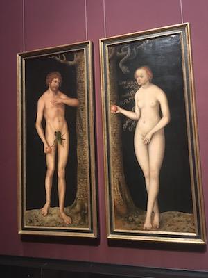 Adamo ed Eva di Durer nel Museo di Storia dell'Arte
