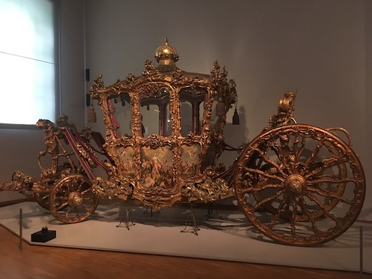 The Imperial Couch for the royal coronations in the Imperial Carriage Museum in Schonbrunn